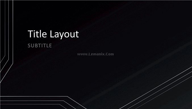 Triple Lines Powerpoint Themes 01