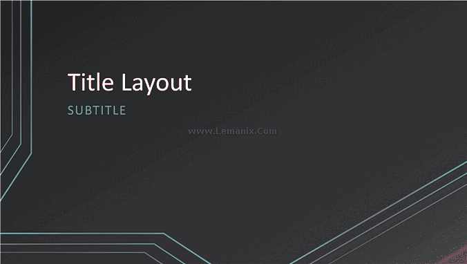 Triple Lines Powerpoint Themes 02