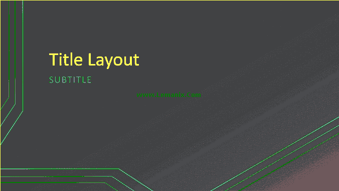 Triple Lines Powerpoint Themes 05