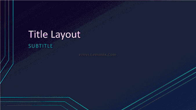 Triple Lines Powerpoint Themes 06